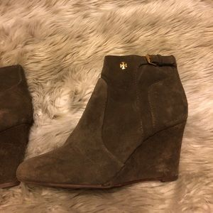 Tory Burch Taupe Milan Bootie- Size 8